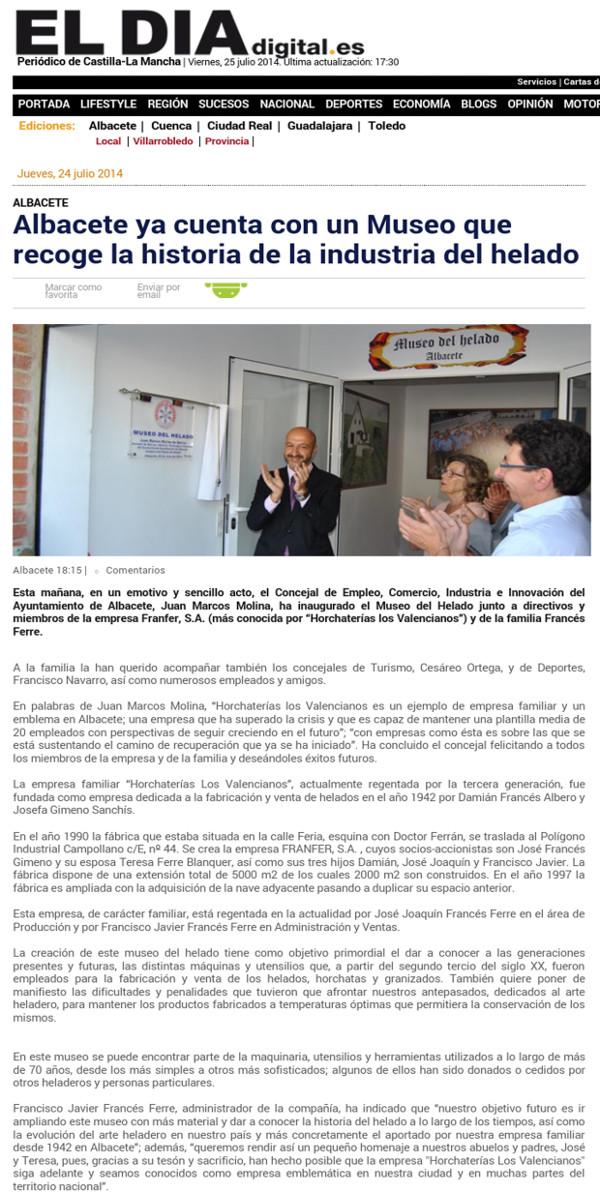 museo del helado reportajes franfer horchateria los valencianos